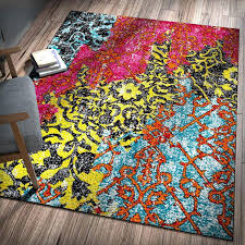 rainbow colored rug area rugs bright colored for classroom rainbow rug coffee tables abstract modern