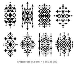 Navajo tattoo designs Tribal Vintage Mexican Aztec Tribal Traditional Vector Logo Design Navajo Prints Set Decoration Traditional Aztec Shutterstock Navajo Tattoos Images Stock Photos Vectors Shutterstock