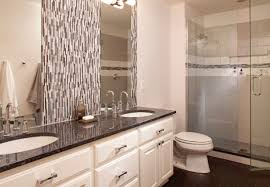 Bathroom  Bathroom Terrific Tiled Showers With Mosaic Accent Tile - Mosaic bathrooms