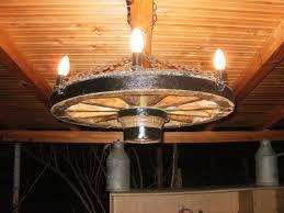 wagon wheel chandelier lighting