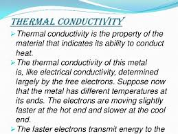 Thermal Conductivity Chart Metals Thermal And Electrical Conductivity Of Metals