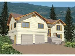split level house has raised front entry