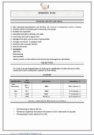 Mba Fresher Resume format Doc Elegant Mba Marketing Fresher Resume Sample  Doc 1 Career