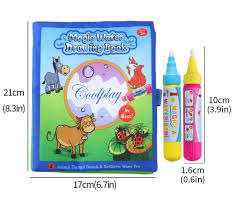 Cartoon Water Coloring Book With Water Pen For Kids Water Activity