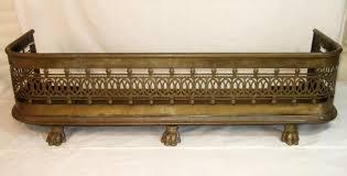 Antique Victorian Brass Fire Fender | 262012 | Sellingantiques.co.uk