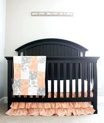 peach nursery bedding custom crib bedding peach and grey baby bedding peach mint baby bedding