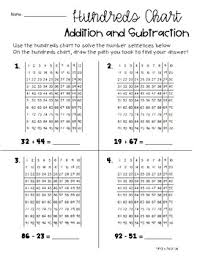 Differentiated Addition Subtraction With Hundreds Chart Place Value Base Ten