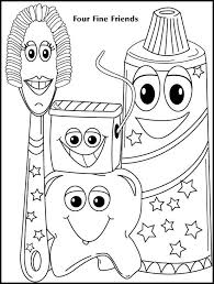 Get your kid to color these dental coloring pages printable and teach him a thing or about dental care Coloring Book 5 Dental Kids Dental Health Preschool Dental Health