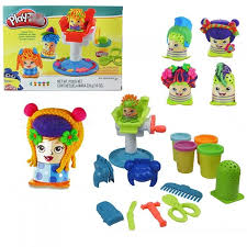 diy kids toys barber color mud clay 3d mold tool set suit plasticine non toxic