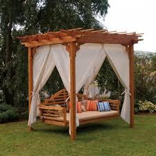 pergola 50p. a u0026 l furniture cedar pergola with optional curtain beige stripe 50p