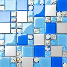 blue mosaic tile backsplash.  Tile Seashell Mosaic Tile Blue Glass Designer Backsplash  Washing Room On Aliexpresscom  Alibaba Group To Blue Mosaic Tile Backsplash A