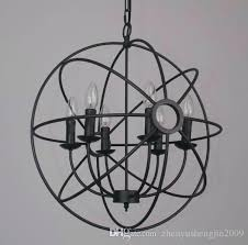 wrought iron sphere chandelier 4