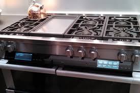 Appliances Range Appliances Close Up Look Luxury Stainless Steel Gas Range Gold