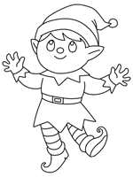 You can download free printable elf coloring pages at coloringonly.com. Christmas Elf Coloring Pages