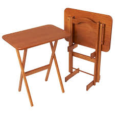 Decorative Tv Tray Tables Wonderful Solid Ash Folding Tv Tray Table Set Manchester Wood For 19