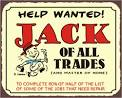 Images & Illustrations of jack of all trades, master of none