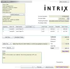 images of invoices intrix invoice creator
