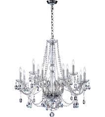 quorum 630 12 514 bohemian katerina 12 light 26 inch chrome chandelier ceiling light in clear crystal