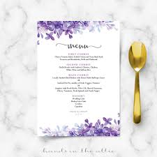 dinner template rehearsal dinner menu
