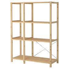 inspiration about ivar 2 section shelving unit 52 34 19 58 70 12 ikea