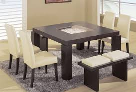 contemporary dining room sets with bench. Plain Dining Square Contemporary Dining Room Sets With Benches Bench E