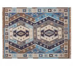 trina rug grayorange pottery barn custom size outdoor rugs