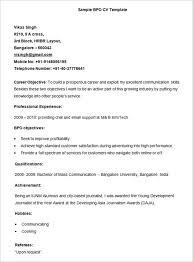 Resume Format For Bpo Jobs For Freshers Resume Format Freshers