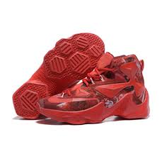 lebron red shoes. nike lebron james 13 basketball shoes custom red o