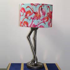 Silver Flamingo Leg Table Lamp Base Only Visual Roars Interiors