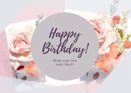 Greeting Card Samples Happy Birthday Greeting Card Template Visme