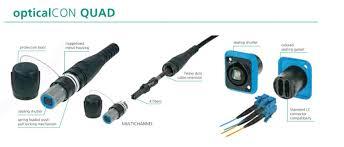 neutrik opticalcon advanced quad rugged lc duplex fibre connector system