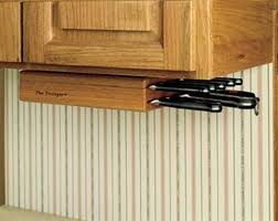 Under Cabinet Knife Storage
