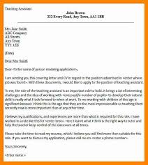 7 Teaching Assistant Cover Letters Letter Signature