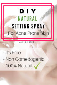 diy natural setting spray for acne e skin lavish krish