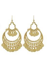 indian gold color big chandelier earrings shein sheinside