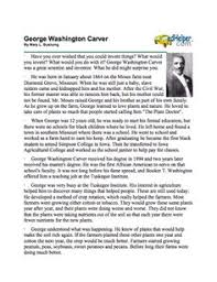 rosa parks day printables social justice for kids here s a packet of information on george washington carver that includes a reading page question