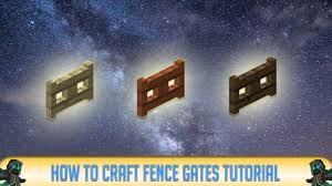 fence gate recipe. Modren Recipe Minecraft 1122 How To Make FENCE GATES Recipe Tutorial For  1122  2018 For Fence Gate O