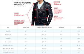 leather jacket size chart us leather jacket size chart sweater vest