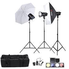 Professional Photography Studio Lighting Equipment Us 389 0 42 Off De Stock Tolifo Fa 300am Professional Photography Lighting Kit With 300w Studio Flash Strobe Light Stand Softbox Soft Umbrella In
