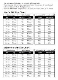 Ski Size Height Chart Coolwintergear Com
