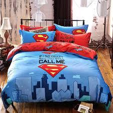 queen size kid bedding set cotton 3 superman cartoon boy girl kids bedding set bed linen
