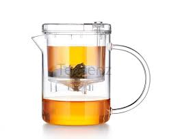 small gl teapot with infuser for