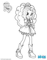 Equestria Girls Coloring Pages Printable Archives Best Page Within