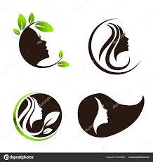 Spa Salon Logo Design Woman Beauty Hair Spa Salon Logo Design Set Stock Vector