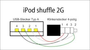 homemade usb cable for the new ipod shuffle make pinout