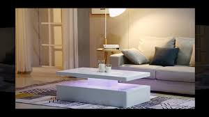 White modern coffee table Amazon Quinton Modern Coffee Table In White High Gloss With Led Lig Youtube Quinton Modern Coffee Table In White High Gloss With Led Lig Youtube