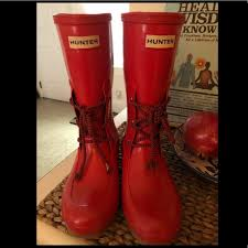 hunter boots size 6 hunter boots shoes sale size 6 cute laces poshmark
