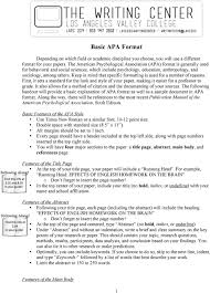 Basic Apa Format Features Of The Main Body Pdf