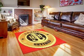 us navy retired red logo rug