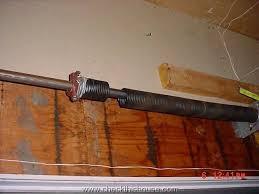 overhead garage door springs safety broken spring 2